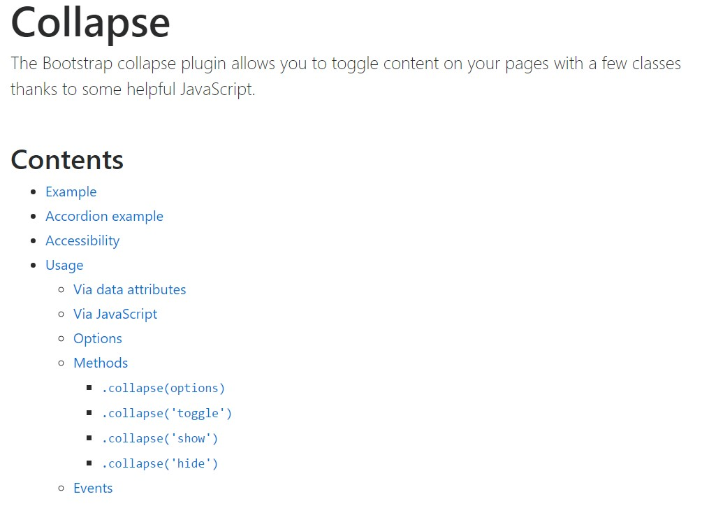 Bootstrap collapse  main  information