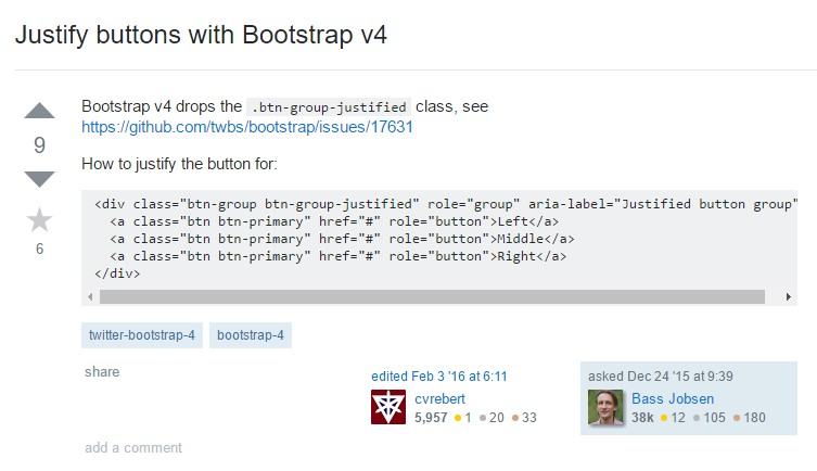 Support buttons  utilizing Bootstrap v4