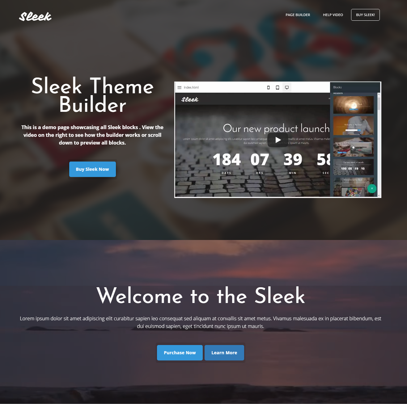 Free Download Bootstrap Sleek Themes
