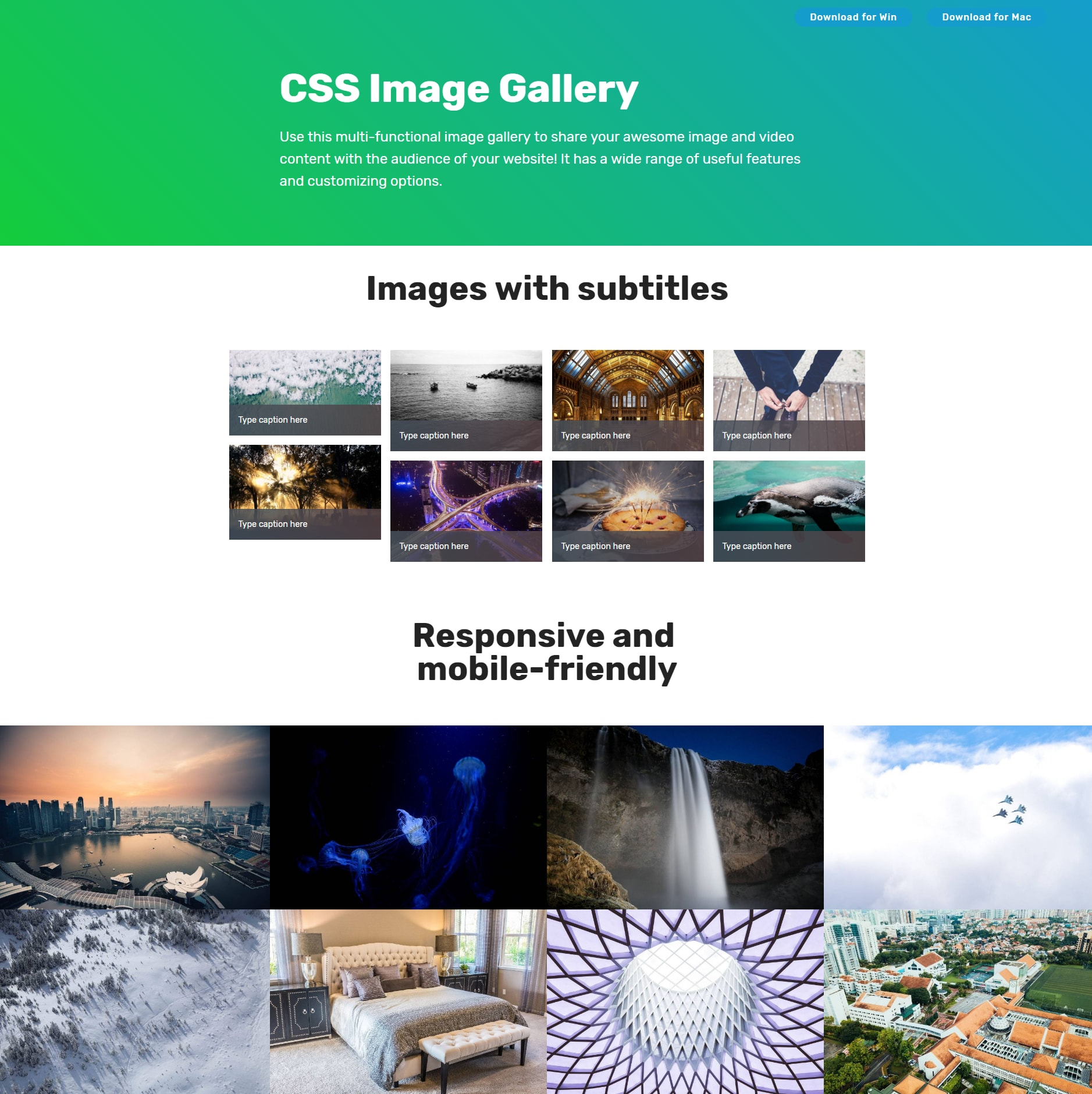 HTML Bootstrap Illustration Gallery