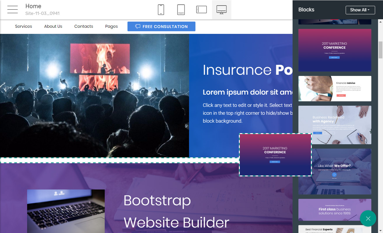 Responsive Template Software